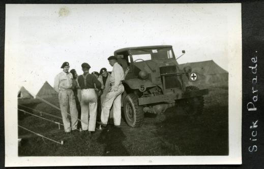 Calgary Tanks sick parade, 1941.