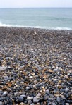 The Dieppe beach with its loose chert pebbles. Rob Alexander photo.