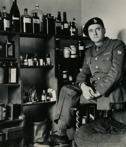 Doc Alexander in his Regimental Aid Post at Seaford. Alexander family collection