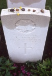 Trp. T. Gorman, CATR, Dieppe Canadian War Cemetery. Rob Alexander photo.