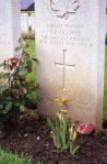 Trp. V.F. Olliffe, CATR, Dieppe Canadian War Cemetery. Rob Alexander photo.