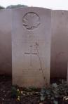 Capt. D.G. Purdy, CATR, Dieppe Canadian War Cemetery. Rob Alexander photo.