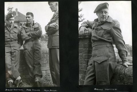 Bruce Trotter, Bob Taylor and John Begg (left photo). Bruce Trotter (right). Alexander family collection