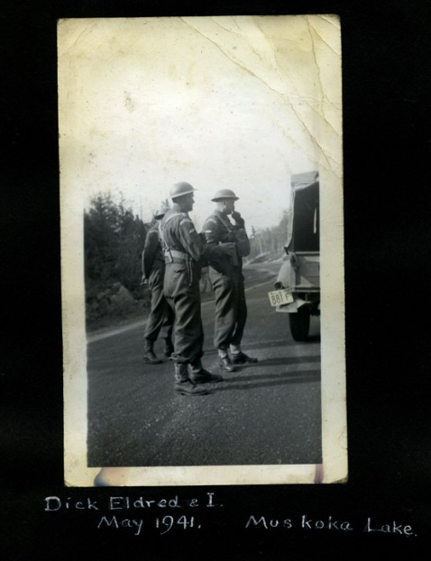 Dick Eldred and Doc Alexander, Muskoka, 1941. Alexander family collection.