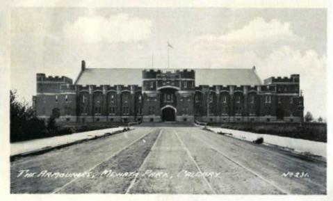 Mewata Armouries in Calgary, circa 1934.