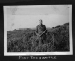 Doc Alexander at Tregantle Fort in Cornwall, 1941. Alexander family collection.