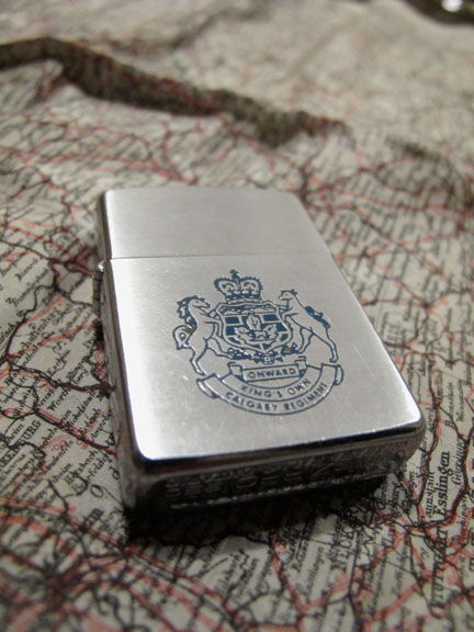 Doc Alexander's King's Own Calgary Regiment Zippo lighter, 1950.