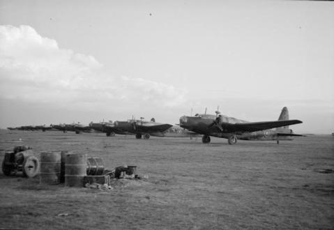 Line of Vickers Wellington Mark IIIs and Mark Xs, possibly No. 40 Squadron RAF at Foggia Main, Italy. © IWM (CNA 2742)