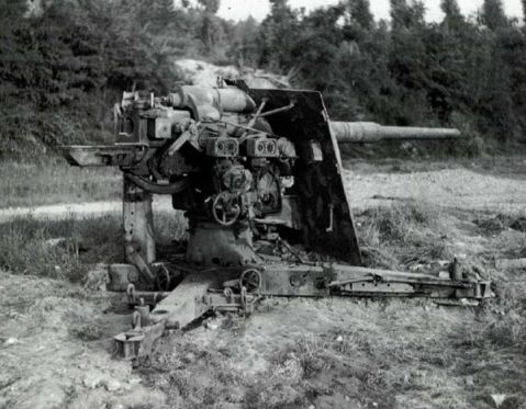 A German 88mm gun in the anti-tank role.