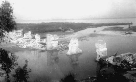 Sangro River bridge, November, 1943.