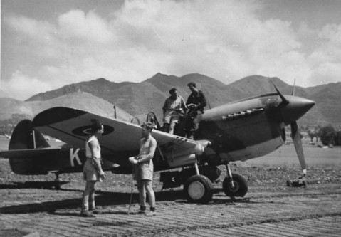Kittyhawk IV  FX515/OK-K. 450 Squadron, Italy, May, 1944,  via Mike Mirkovic.
