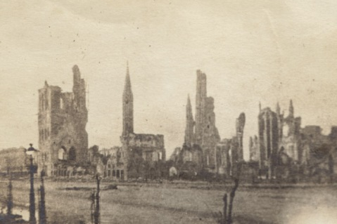 Ypres in ruins.  Rob Alexander collection